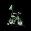 GHOST Powerkid 12 gyerek kerékpár - fekete/zöld