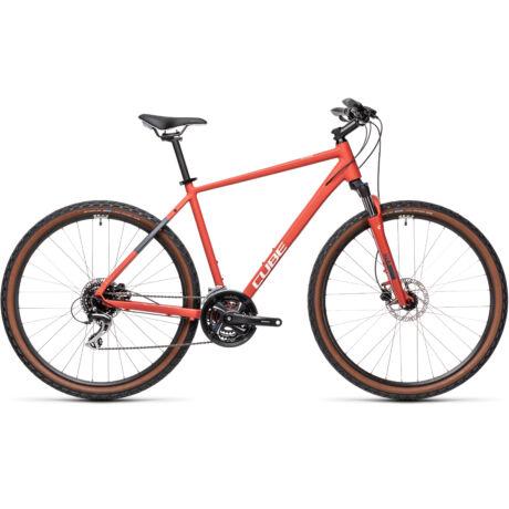 CUBE Nature férfi cross trekking kerékpár 2021 - piros/szürke