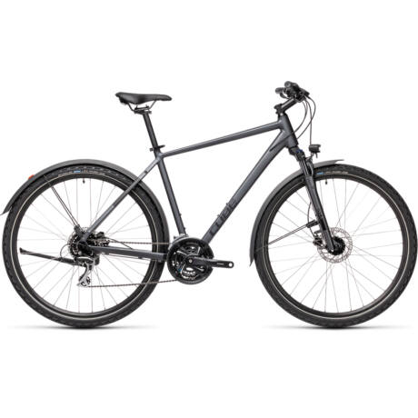 CUBE Nature Allroad férfi trekking kerékpár 2021, szürke-fekete