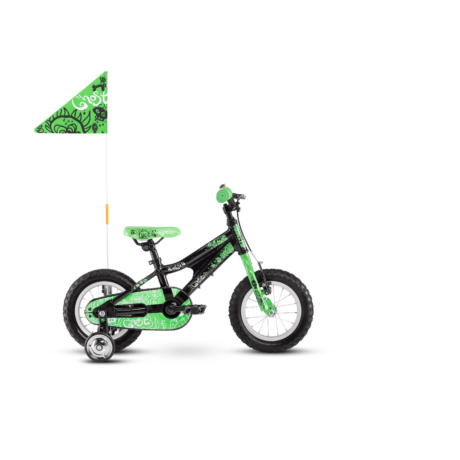 GHOST Powerkid 12 gyerek kerékpár fekete/zöld