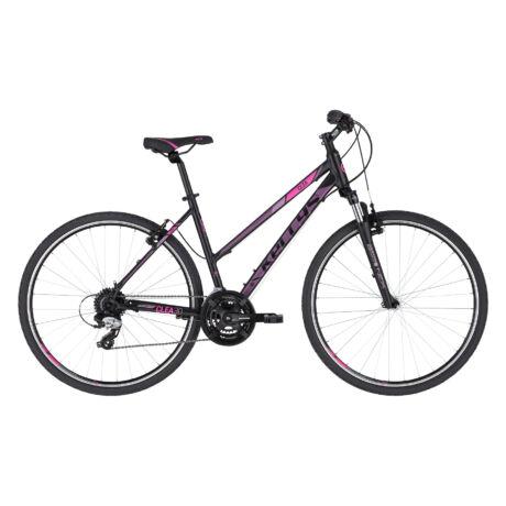 KELLYS Clea 30 női cross trekking kerékpár 2021, fekete-pink
