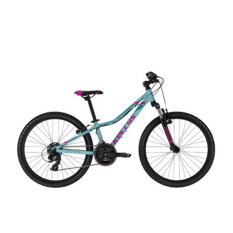 """KELLYS Kiter 50 24"""" gyermek kerékpár 2021, türkiz"""