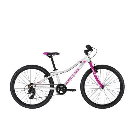 """KELLYS Kiter 30 24"""" gyermek kerékpár 2021, fehér"""