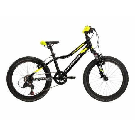 """KROSS Level Mini 2.0 20"""" gyerek kerékpár 2021 - fekete/lime"""