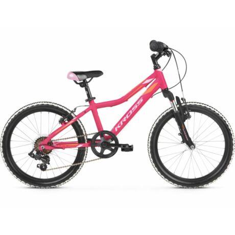 """KROSS Lea Mini 2.0 20"""" gyerek kerékpár 2021 - pink/narancs"""