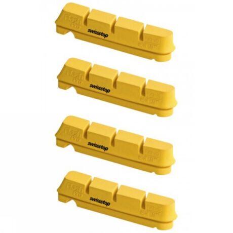 SwissStop fékbetét FlashPRO Yellow King Shimano/SRAM országúti karbon 4 db