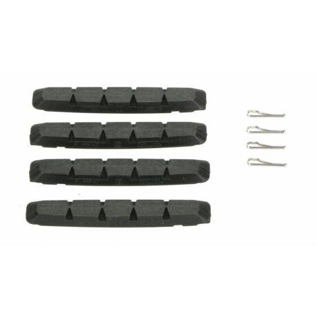 SwissStop fékbetét RX Plus V-fékhez fekete csak gumi 4 db