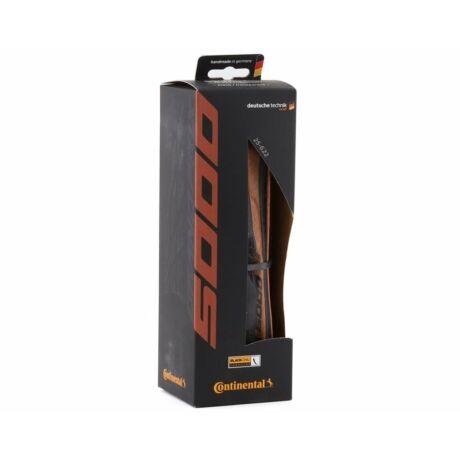 CONTINENTAL Grand Prix 5000 kerékpáros külső gumi, hajtogathatós - fekete/transzparent