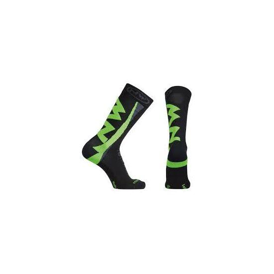 NORTHWAVE zokni téli EXTREME WINTER, M (40-43), fekete/zöld